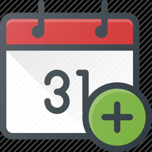 Calendar Design Icon : Add calendar create event time icon