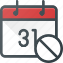 calendar, cancel, delete, event, time icon