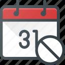 calendar, cancel, delete, event, time