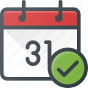 attend, calendar, check, event, time icon
