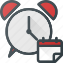 calendar, clock, event, llarm, reminder, time icon