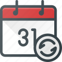calendar, event, recurent, renfresh, repeat, time icon