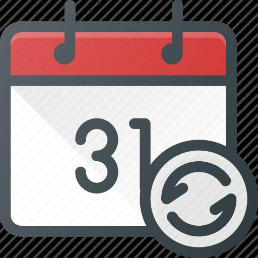 Calendar Repeat : Calendar event recurent renfresh repeat time icon
