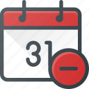 calendar, cancel, delete, event, remove, time icon