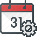 calendar, event, settings, time icon