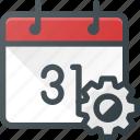 calendar, event, settings, time
