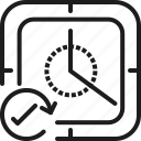 clock, good, right, square, time, ture icon