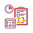 business, clock, management, planning, schedule, time icon