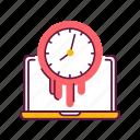 clock, computer, laptop, management, spend, time, work