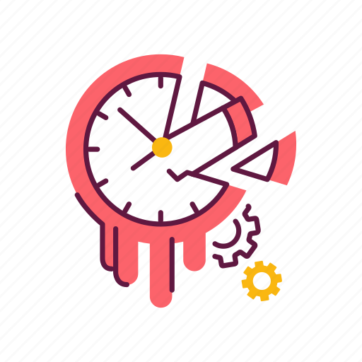 clock, hour, laziness, management, procrastination, time, waste icon