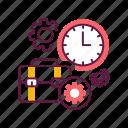 clock, job, management, planning, time, work, workflow icon