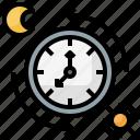clock, day, night, time