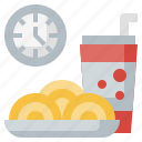 clock, food, minutes, time icon