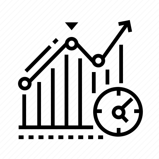 diagram, growth, increase, schedule icon