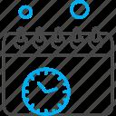 calendar, clock, management, time