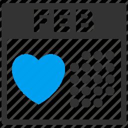 calendar, february 14, fourteenth, lover day, romantic, schedule, valentine icon
