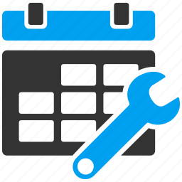 configuration, configure calendar, options, schedule, settings, timetable, wrench icon