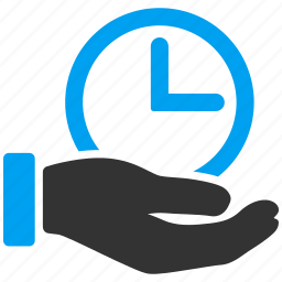 business, clock, hand, hour, support, time service, timer icon