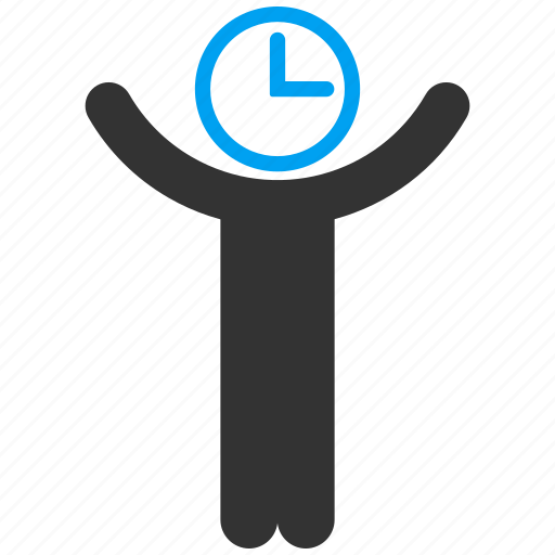 admin, business, clock, male, person, schedule, time manager icon