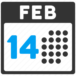 calendar, event, february 14, fourteenth, lover day, romantic, valentine icon