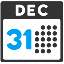 calendar, christmas, day 31, december, last year day, new year, schedule icon