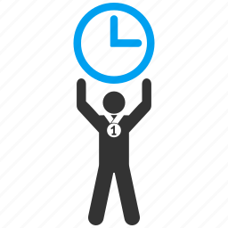 award, champion, clock, competition, success, time manager, winner icon