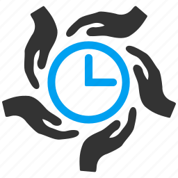 clock, hands, insurance, measure, support, time management, timer icon