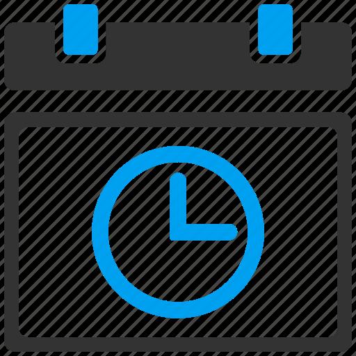 agenda, calendar leaf, clock, date, event, page, time icon