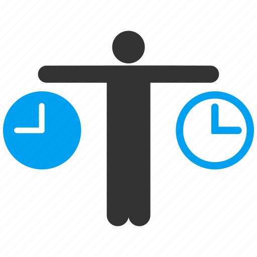 balance, clock, compare, male, person, time, user icon