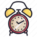 alarm, clock, retro, time, vintage icon