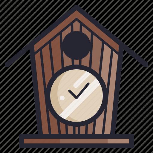 birdhouse, clock, furniture, old, retro, time, vintage icon