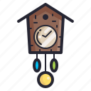 birdhouse, clock, furniture, old, retro, time, vintage icon