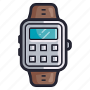 calculator, clock, eletcronics, retro, smartwatch, time, watch icon