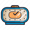 clock, electronics, retro, time, vintage, watch icon
