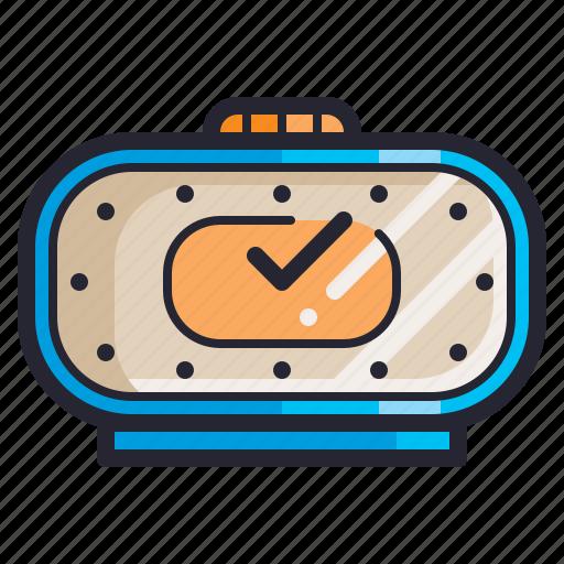 clock, electronics, retro, time, vintage, watch icon