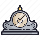 clock, furniture, home, retro, time, vintage icon