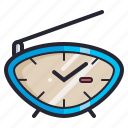 alarm, clock, radio, retro, time, vintage, watch icon