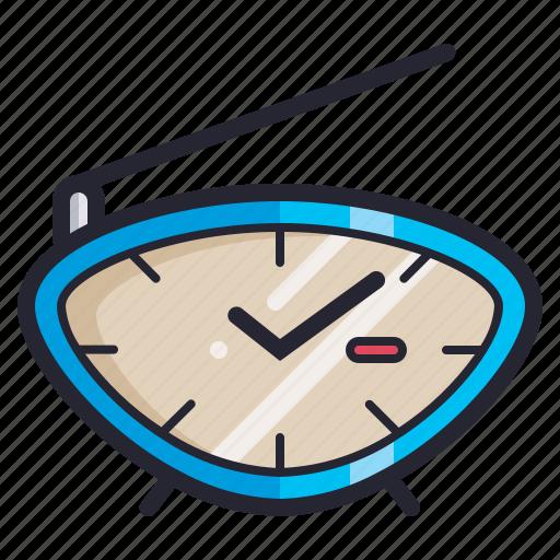 alarm, clock, radio, retro, time, vintage, watch icon
