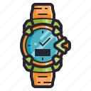 accessories, casio, clock, fashion, sports, time, watch icon