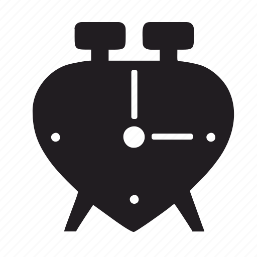 alarm, beeper, clock, heart, love, schedule, time, timer, watch icon