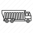 tipper, lorry, vector, thin