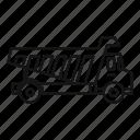 tipper, unloading, vector, thin