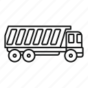 tipper, cargo, vector, thin