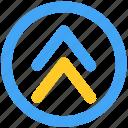 arrow, circle, curve, direction, dooble, pointer, web