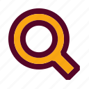 find, look, magnifying glass, search, view, web, zoom icon
