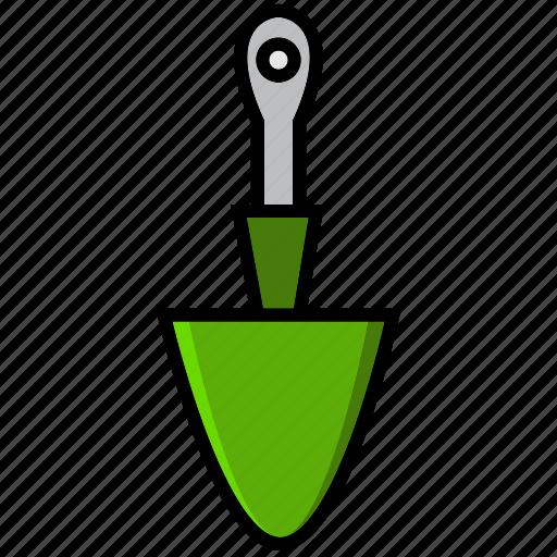 draw, hoe, repair, spade, tool, trowel, work icon
