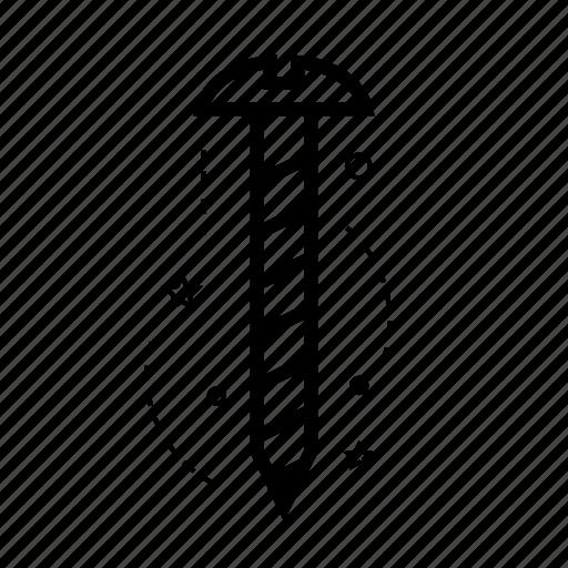 bolt, bouncer, draw, repair, screw, tool, work icon