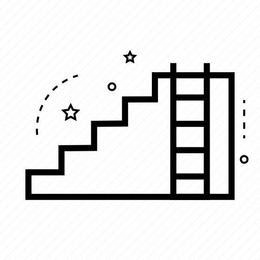 draw, ladder, repair, staircase, steps, tool, work icon