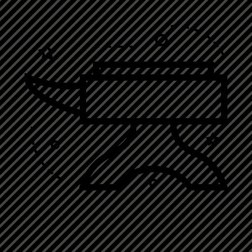 anvil, base, cornerstone, repair, strip, tool, work icon