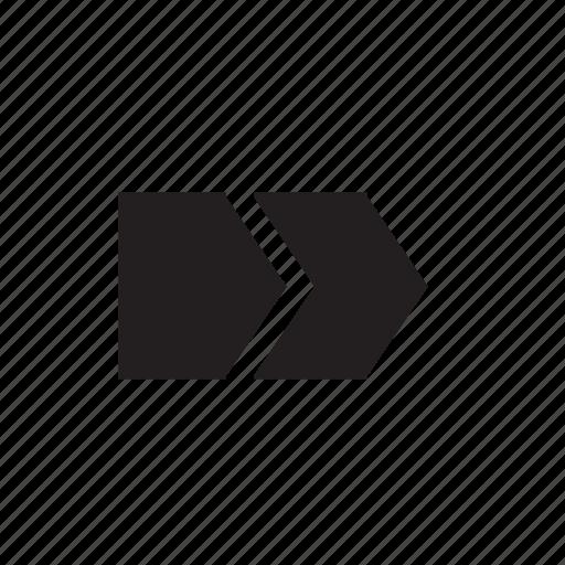 arrow, forward, tool icon